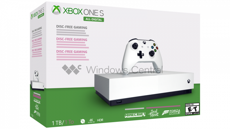 La Xbox One S All-Digital sortirait le 7 mai selon Windows Central