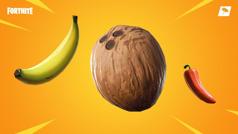 [MàJ] Fortnite, Noix de coco, Banane, Piment : tout sur les nouveaux consommables, notre guide