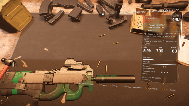Pistolet-Mitrailleur Flux Continu