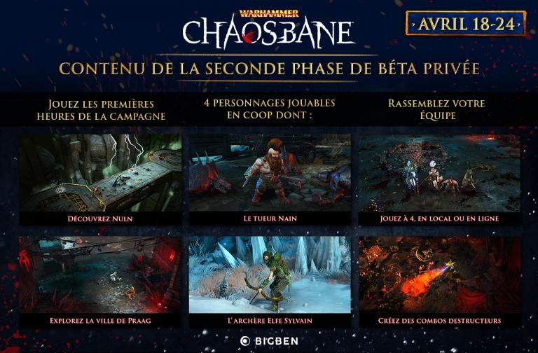 Warhammer : Chaosbane - une seconde bêta privée avec les quatre personnages jouables