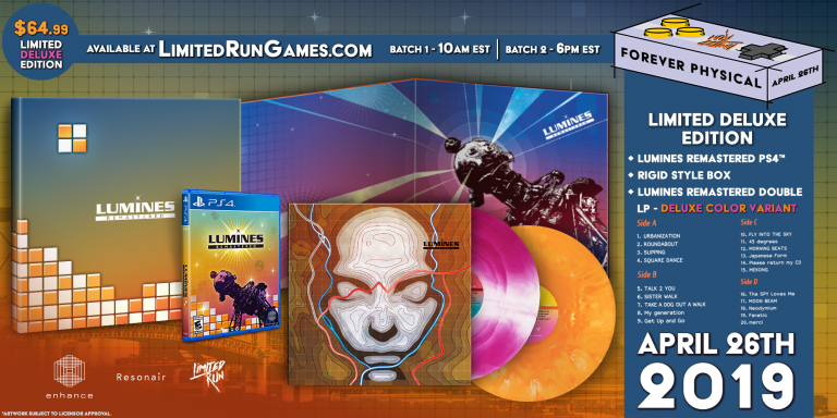 Limited Run fournira une édition physique à Lumines Remastered