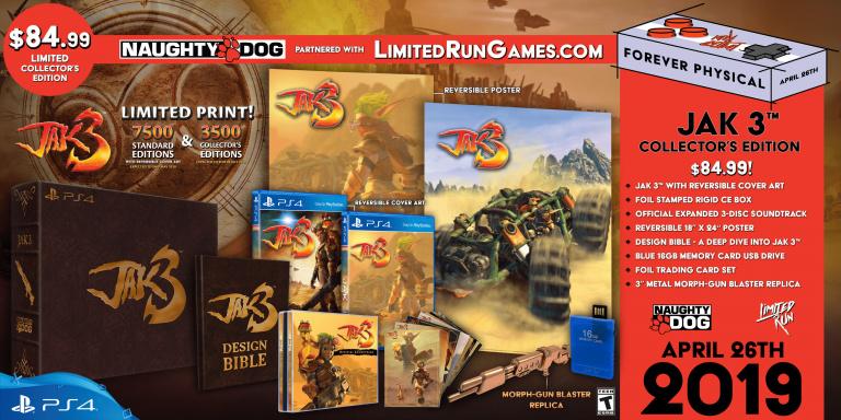 Jak 3 s'offre une édition collector PS4 chez Limited Run Games