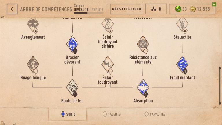 The Elder Scrolls Blades : Comprendre l'arbre des sorts