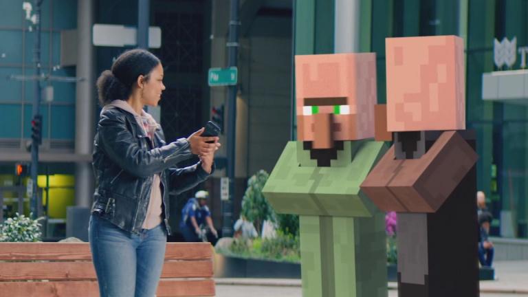 Microsoft tease un jeu Minecraft en réalité augmentée