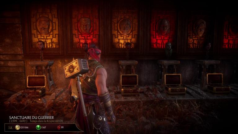 Tête de Kebab et La salle du trône de Shang Tsung
