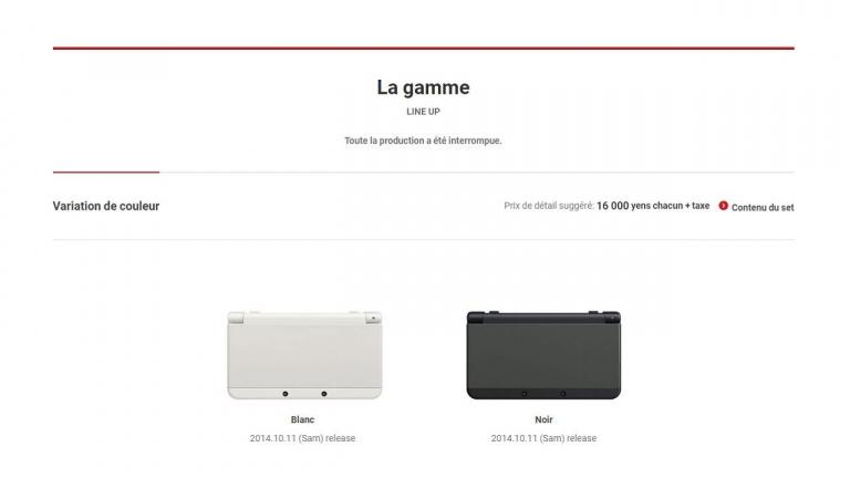 Nintendo : Fin de production pour la New 3DS