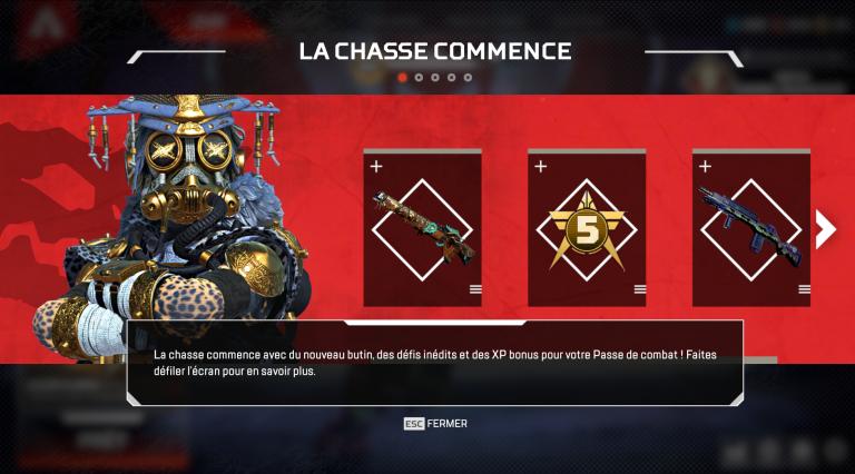 """Apex Legends : Tout ce qu'il faut savoir sur l'événement """"Chasse légendaire"""""""