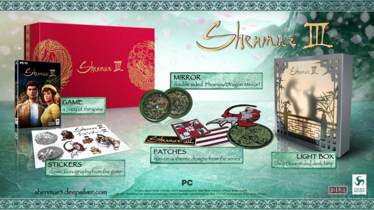 E3 2019 : Shenmue III ouvre ses précommandes et présente son édition collector