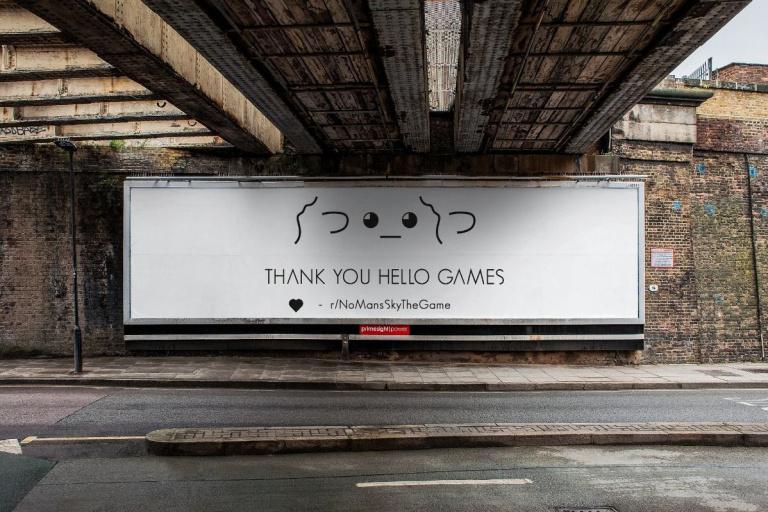 No Man's Sky : Un fan du jeu veut remercier le studio avec une publicité