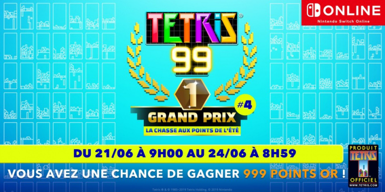 Tetris 99 : le Grand Prix 4 commencera le 21 juin