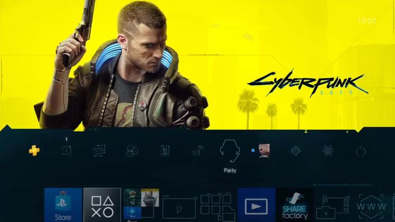 Cyberpunk 2077 : un thème gratuit sur PS4