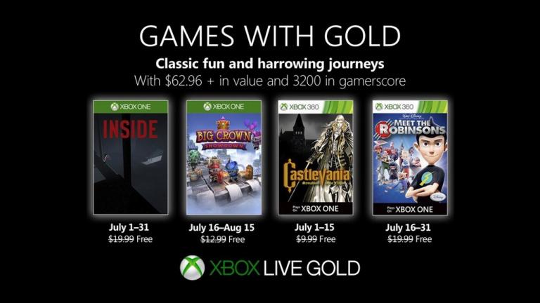 Xbox Games With Gold : les jeux offerts en juillet 2019