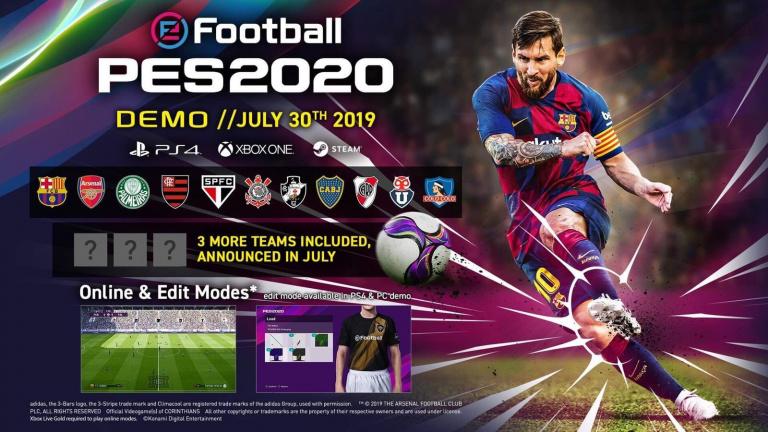 eFootball PES 2020 : une démo sera lancée le 30 juillet