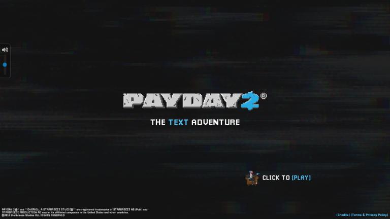 Payday 2 : The Text Adventure offre des costumes aux joueurs