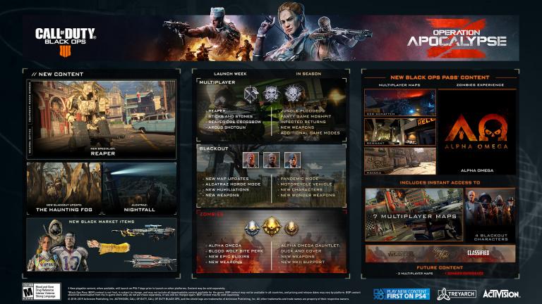 Call of Duty : Black Ops 4 - les zombies à l'honneur dans l'Opération Armageddon Z