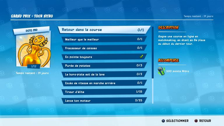 Crash Team Racing Nitro-Fueled, Grand Prix Tour Nitro : défis pro, le guide