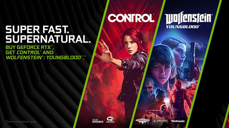 Nvidia : Wolfenstein Youngblood et Control offerts pour l'achat d'une RTX