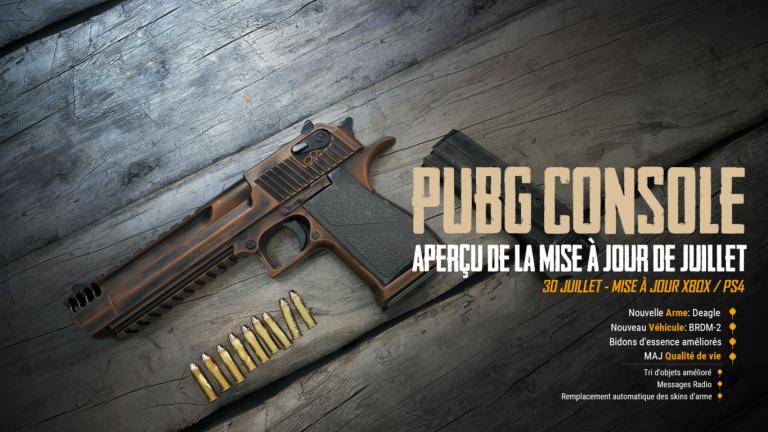PUBG : les consoles accueilleront le Deagle et le BRDM-2 le 30 juillet