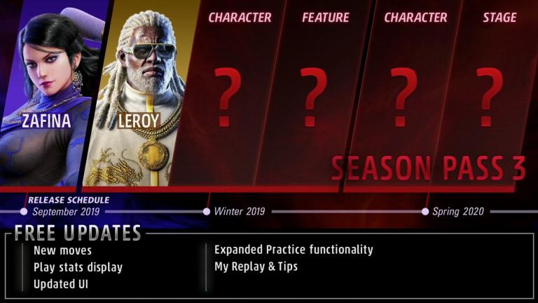 Tekken 7 : le Season Pass 3 se dévoile avec Zafina et Leroy Smith