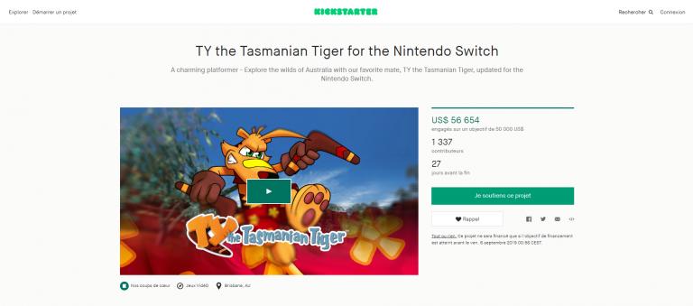 Ty : Le Tigre de Tasmanie a réussi sa campagne Kickstarter