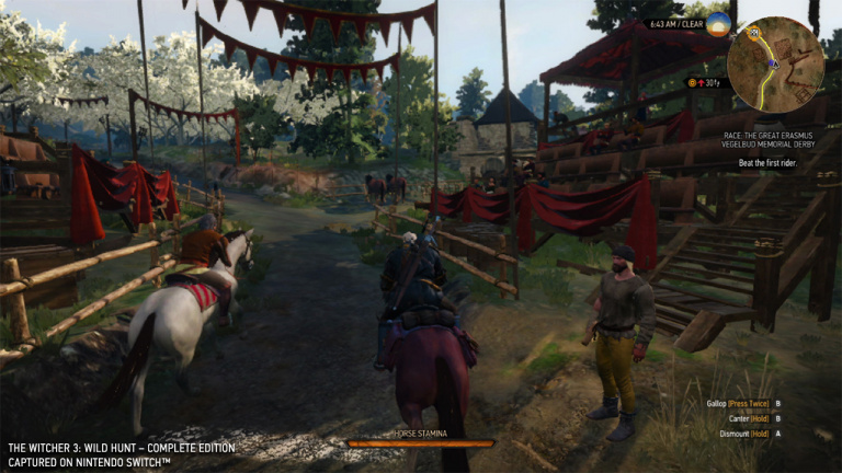 The Witcher 3 sur Switch : 40 minutes de gameplay impressionnant !