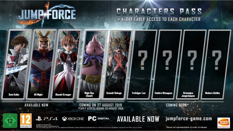 Jump Force : Katsuki Bakugo et Majin Boo débarquent demain