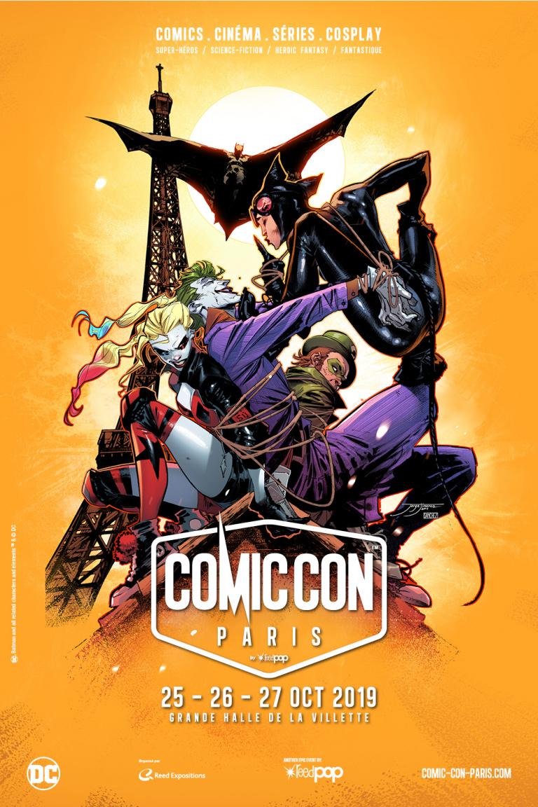 Comic Con Paris : L'affiche 2019 rend hommage à la licence Batman