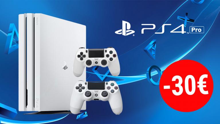 PS4 Pro 1To Blanche en réduction de 30€ + une manette offerte chez Amazon!