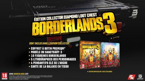 Borderlands 3 Edition Collector + l'édition Super Deluxe avec Steelbook en réduction de 40€ chez la Fnac !