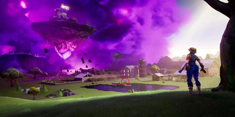 Fortnite, emplacement de l'étoile cachée, semaine 6, saison 10 (mission Le Retour)