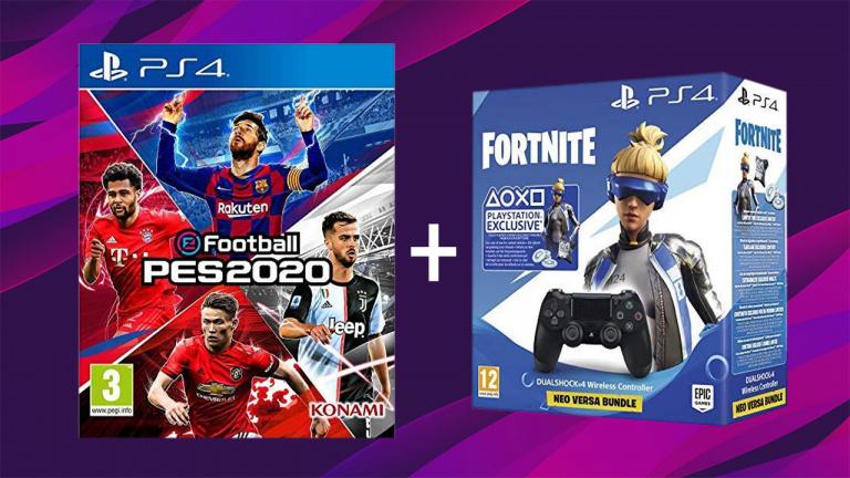 eFootball PES 2020 + Manette Dualshock 4 V2 Black Fortnite à -33%