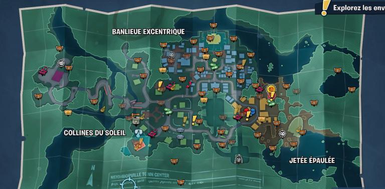 Plantes vs Zombies - la bataille de Neighborville : tous les coffres du centre-ville