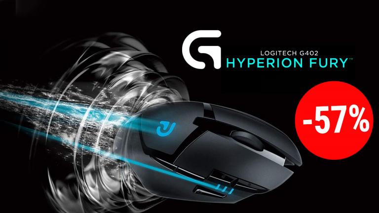Logitech G402 Hyperion Fury à 57% de réduction chez Amazon!