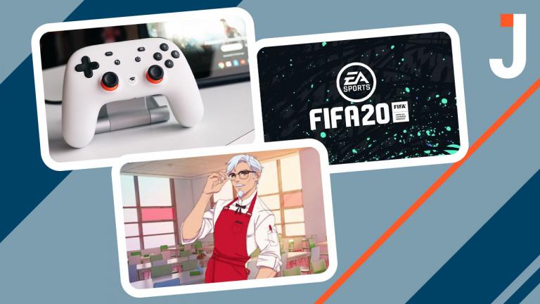 Le Journal : démo de FIFA 20, Stadia, jeu de drague KFC ... Les news du jour