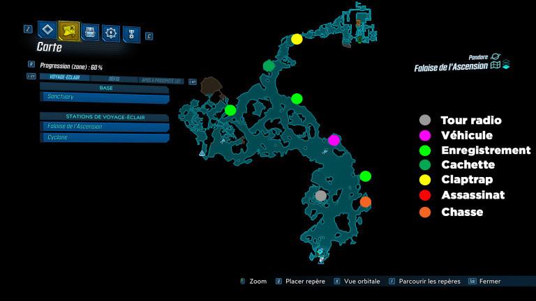 Borderlands 3 : défis de la falaise de l'ascension