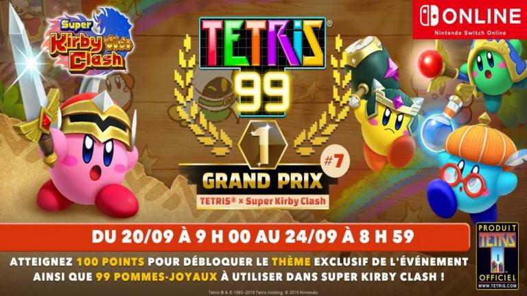 Tetris 99 x Super Kirby Clash : un septième Grand Prix en approche