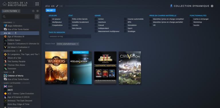 Steam : la nouvelle bibliothèque est accessible en bêta ouverte