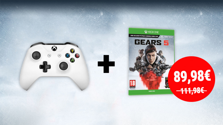 Manette Xbox One sans fil + Gears 5 à 89,98€ chez la Fnac