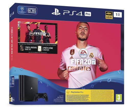 PS4 Pro + FIFA 20 + 14 jours de PS+ à 60€ de réduction!