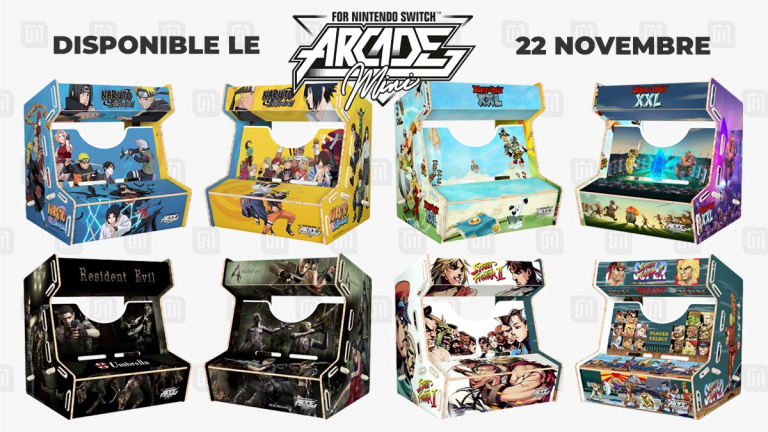 Microids dévoile sa gamme de bornes d'arcade mini pour la Nintendo Switch