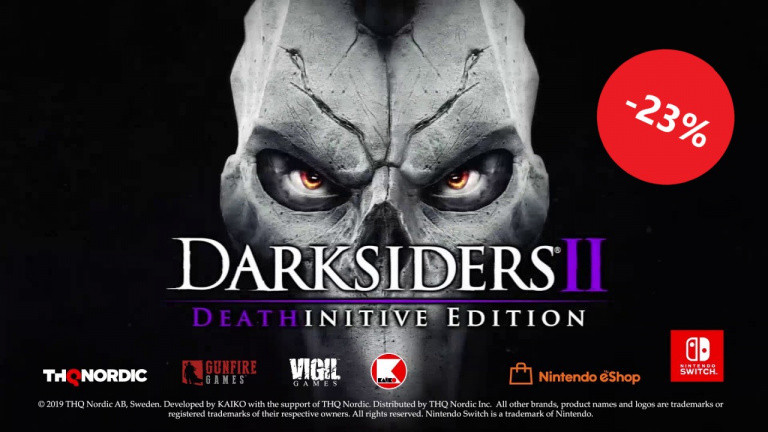 Darksiders 2 : Deathinitive Edition Switch est à 22,99€ chez Amazon