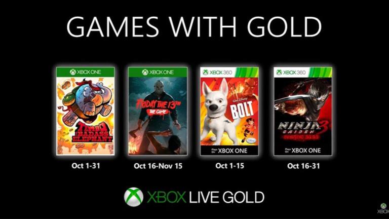 Xbox Live Gold : Les jeux gratuits du mois d'octobre 2019