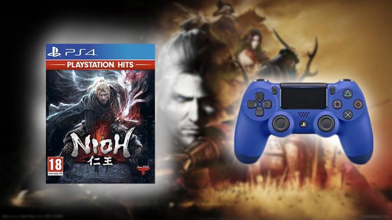Manette DualShock V2 PS4 Bleu + NIOH PlayStation Hits à 41,45€ chez Amazon