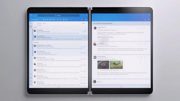 Microsoft présente Surface Neo, son premier PC portable à double écran