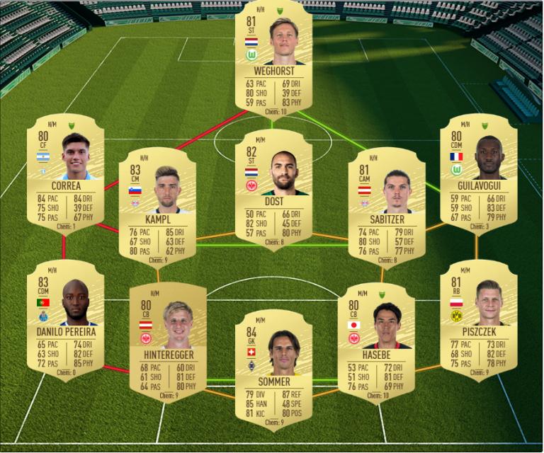 FIFA 20, DCE : OTW Nouveaux débuts, solution défi création d'équipe
