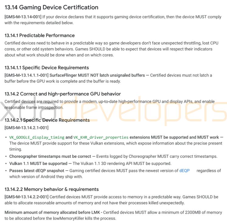 Google travaille sur une certification Gaming à destination des smartphones