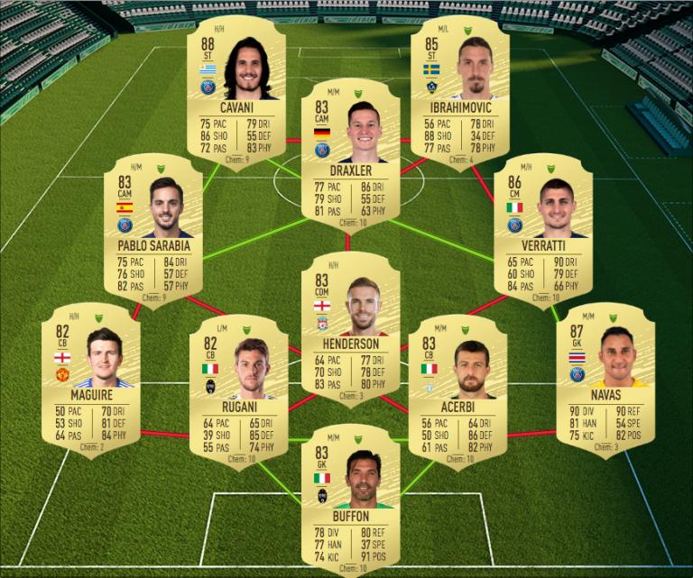 FIFA 20, DCE : Flashback Theo Walcott, solution du défi création d'équipe