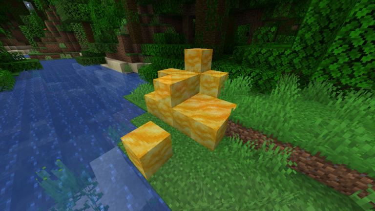Minecraft : Les blocs Miel utilisés pour faire du parkour