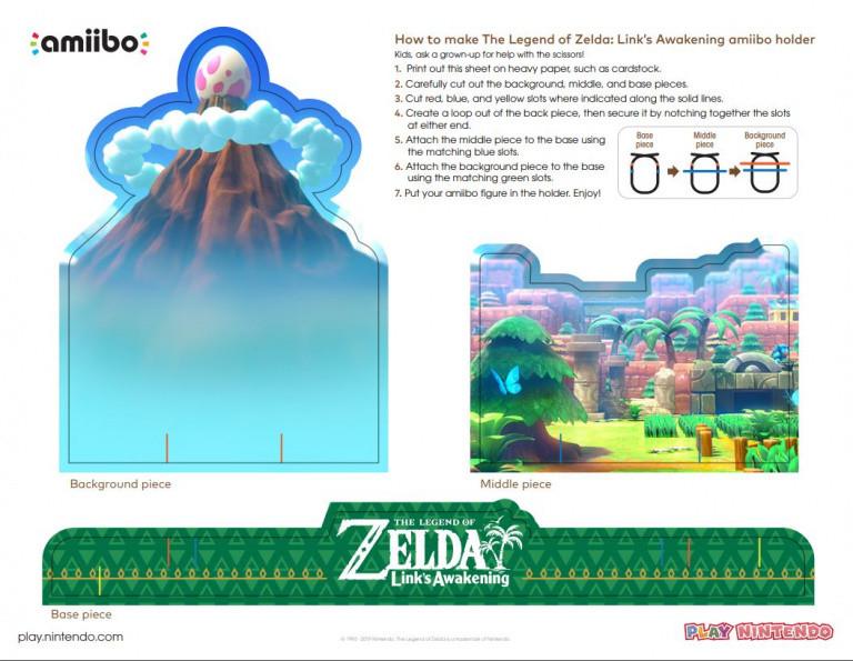 Zelda : Link's Awakening - Un décor imprimable pour le nouvel Amiibo Link