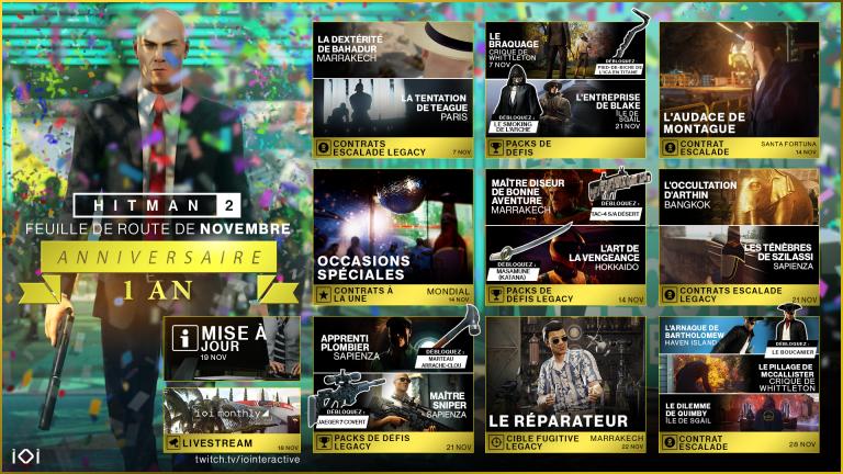 Hitman 2 - Un mois de novembre chargé en contenus gratuits